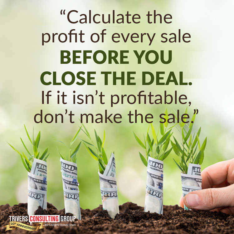 Calculate profit sale